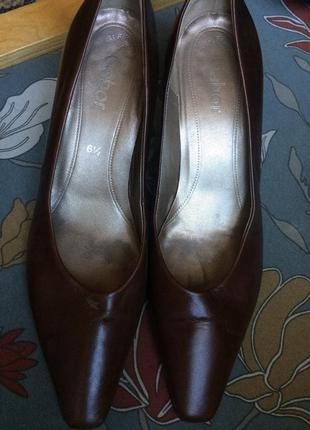 Немецкие кожаные туфли лодочки gabor 40 {26.5}