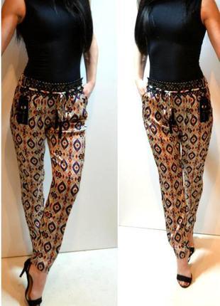 Модные летние брюки,штаны в узор