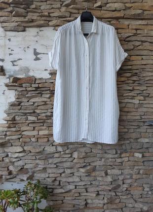 Суперовая вискозная удлинённая рубашка туника большого размера