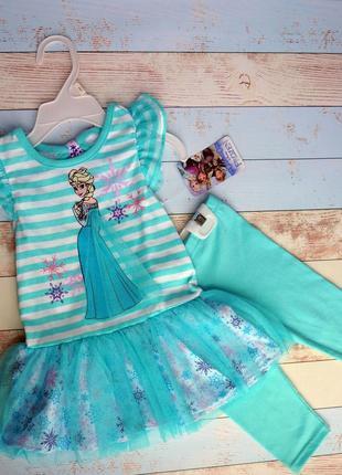 Платье, туника с легенсами, костюм для девочки disney, дисней