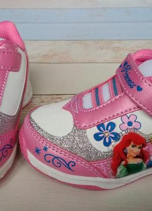 Фирменные кроссовки на девочку дисней, disney princess. 13, 14 см