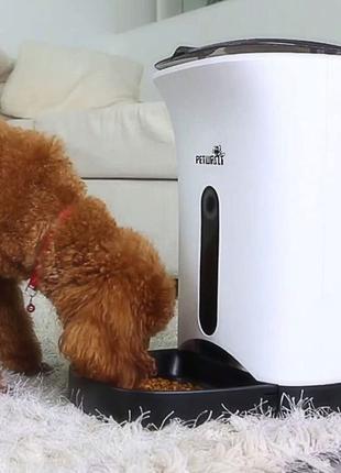 Автоматическая умная кормушка petwant PF-102 для кошек и собак
