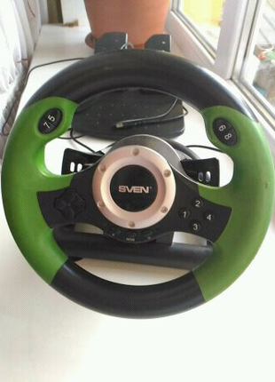 Провідний ігровий моніпулятор руль Sven GC-W400 Turbo для ПК