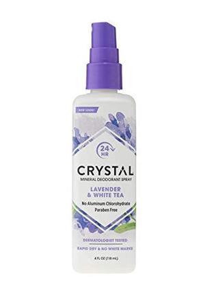Crystal дезодорант-спрей с ароматом лаванды и белого чая , 118...