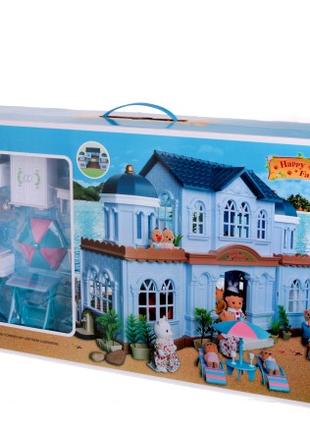 Игровой домик Животные флоксовые Happy Family 012-11 с мебелью