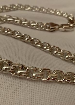 Серебряная цепь Арабский бисмарк 925 пробы 110грамм