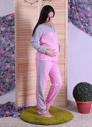 Байковая женская пижама, подойдет беременным 1637
