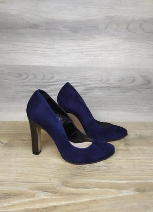 Туфли на каблуке - натуральная замша model 2170