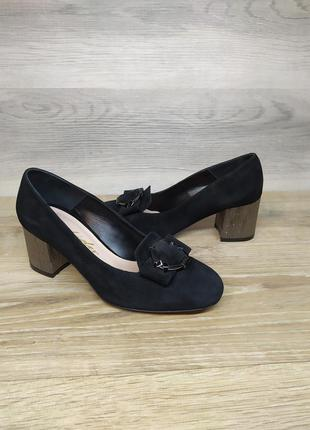 Туфли на каблуке - натуральная замша model 2168