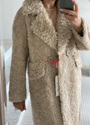 Меховое пальто шуба натуральная овчина мех 100%