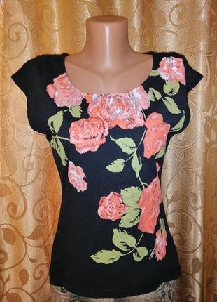 🌺🎀🌺красивая женская трикотажная футболка, блузка с принтом ajc...