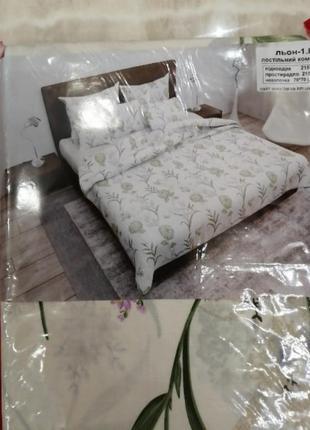Комплект постельного белья,ткань лен,в наличии размеры и расцв...