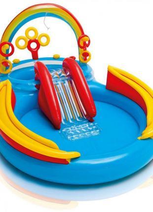 Детский  игровой центр бассейн с горкой INTEX 57453 Радуга