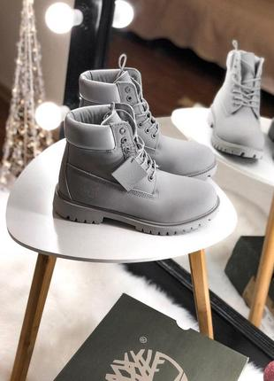 Серые женские зимние ботинки с мехом разные размеры в наличии