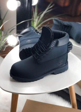 Темно-синие мужские зимние ботинки с мехом разные размеры в на...