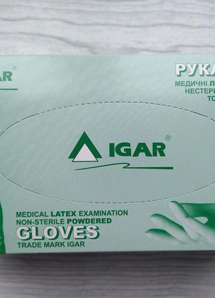 Перчатки латексные опудренные IGAR