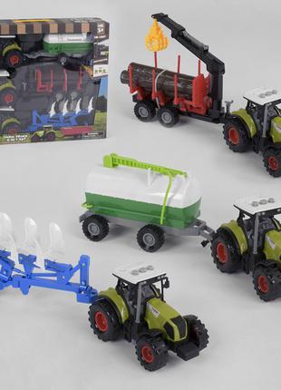 Набор тракторов инерционных 550-22 E, свет, звук, 3 шт. в коробке