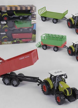 Набор тракторов инерционных 550-21 E, свет, звук, 3 шт. в коробке