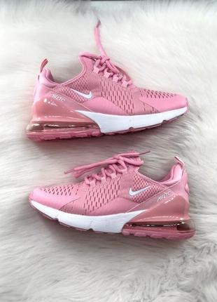 Женские розовые кроссовки nike air max 270