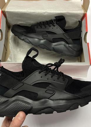 Мужские черные кроссовки nike air huarache