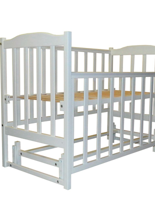 Кроватка детская для новорожденных с маятниковым механизмом