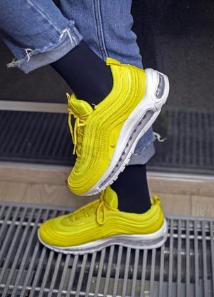 Женские желтые кроссовки nike air max 97
