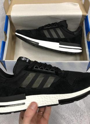 Черные мужские кроссовки adidas zx