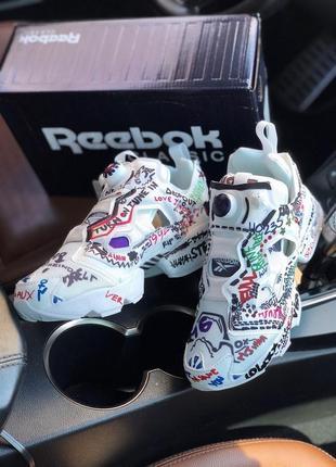 Женские разноцветные кроссовки reebok x vetements insta pump