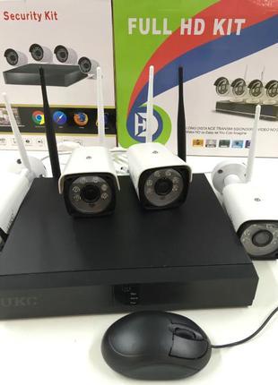 WiFi Комплект видеонаблюдения беспроводной KIT CAD Full HD UKC...