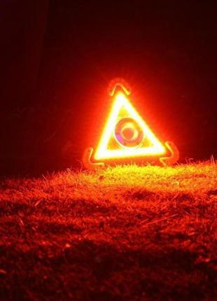 Фонарь Прожектор Аварийный Знак LED STOP Power Bank Solar Char...