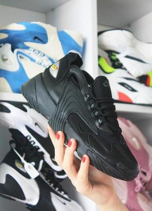 Черные мужские кроссовки nike zoom 2 k
