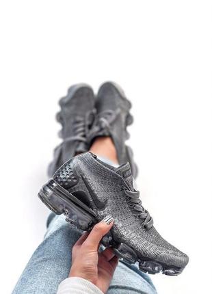 Крутые женские серые кроссовки nike vapormax