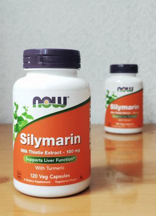 Силимарин Now Foods , Расторопша + куркума, 120 шт