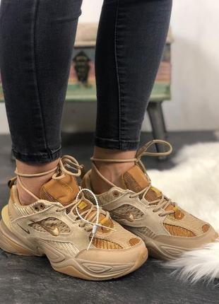 Коричневые женские кроссовки nike m2k tekno