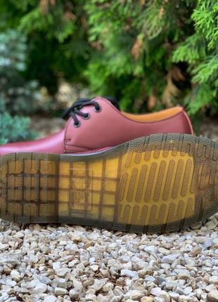 Dr. martens 1461 cherry женские ботинки мартинс черный цвет ко...