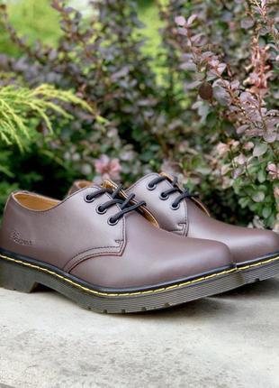 Dr. martens 1461 женские ботинки мартинс коричневый цвет кожа ...