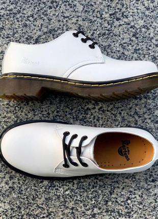 Dr. martens 1461 white женские ботинки мартинс белыйцвет кожа ...