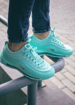 Бирюзовые женские кроссовки nike air max 97