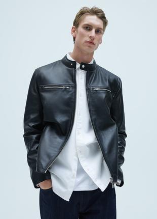 Кожаная куртка ZARA из натуральной кожи ягненка Xl 50-52