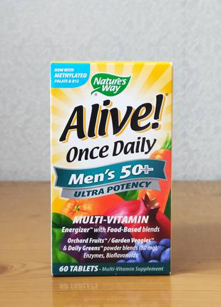 Витамины для мужчин старше 50 лет (50+), Alive, Nature´s Way