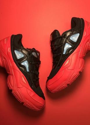 Красные мужские кроссовки adidas raf simons red black