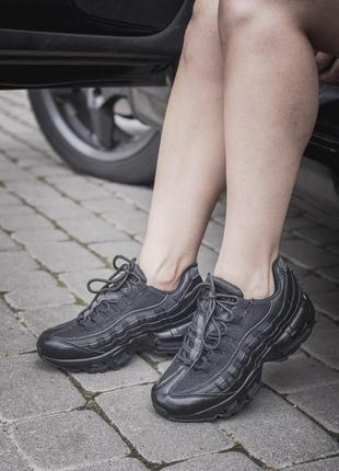 Женские черные кроссовки nike air max 95