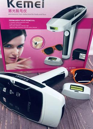 Лазерный фотоэпилятор Kemei KM-6812 S для лица и тела женский ...