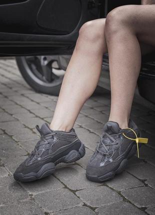 Черные кроссовки унисекс adidas yeezy boost 500