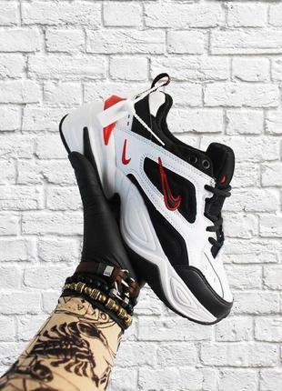 Мужские черно-белые кроссовки nike m2k tekno