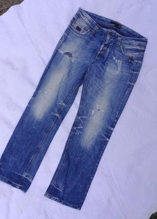 Новые рваные джинсы,33/30 разм,smog