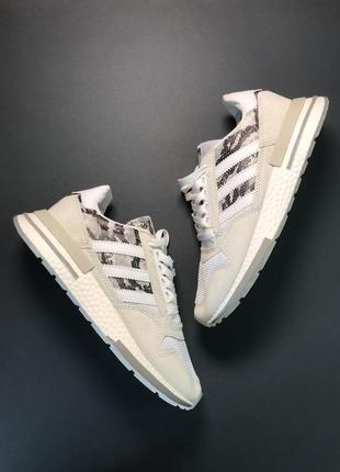 Серые женские кроссовки adidas zx 500 rm grey camo