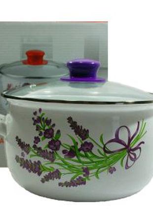 Кастрюля Н11-ЛАВАНДА 3Л. Эмалированная посуда