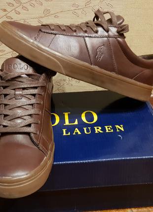 Кожаные кеды туфли Ralph Lauren