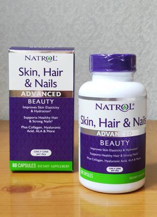 Кожа, волосы, ногти, Natrol, 60 капсул
